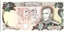 Iran 500 Rials , Mohammad Reza Pahlavi - 19(74-79) P.104 c