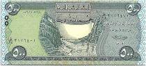 Iraq 500 Dinars, Dam - Statue Winged - 2019 UNC