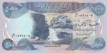 Iraq 5000 Dinars Gali Ali Beg waterfall - Al-Ukhether Fortress - 2003
