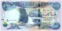Iraq 5000 Dinars Gali Ali Beg waterfall - Al-Ukhether Fortress - 2013