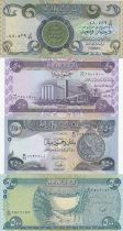 Iraq Set of 4 banknotes - 1979 to 2013