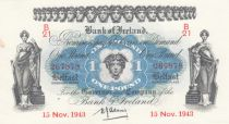 Ireland - Northen 1 Pound - Bank of Ireland - 1943 - P. 55 - XF