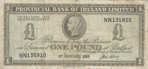 Ireland - Northen 1 Pound Provincial Bank Limited 1968 - VG to F - P.245