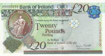 Ireland - Northen 20 Pounds - Bank of Ireland - 2013 - P.88 - UNC - Low number AA000298