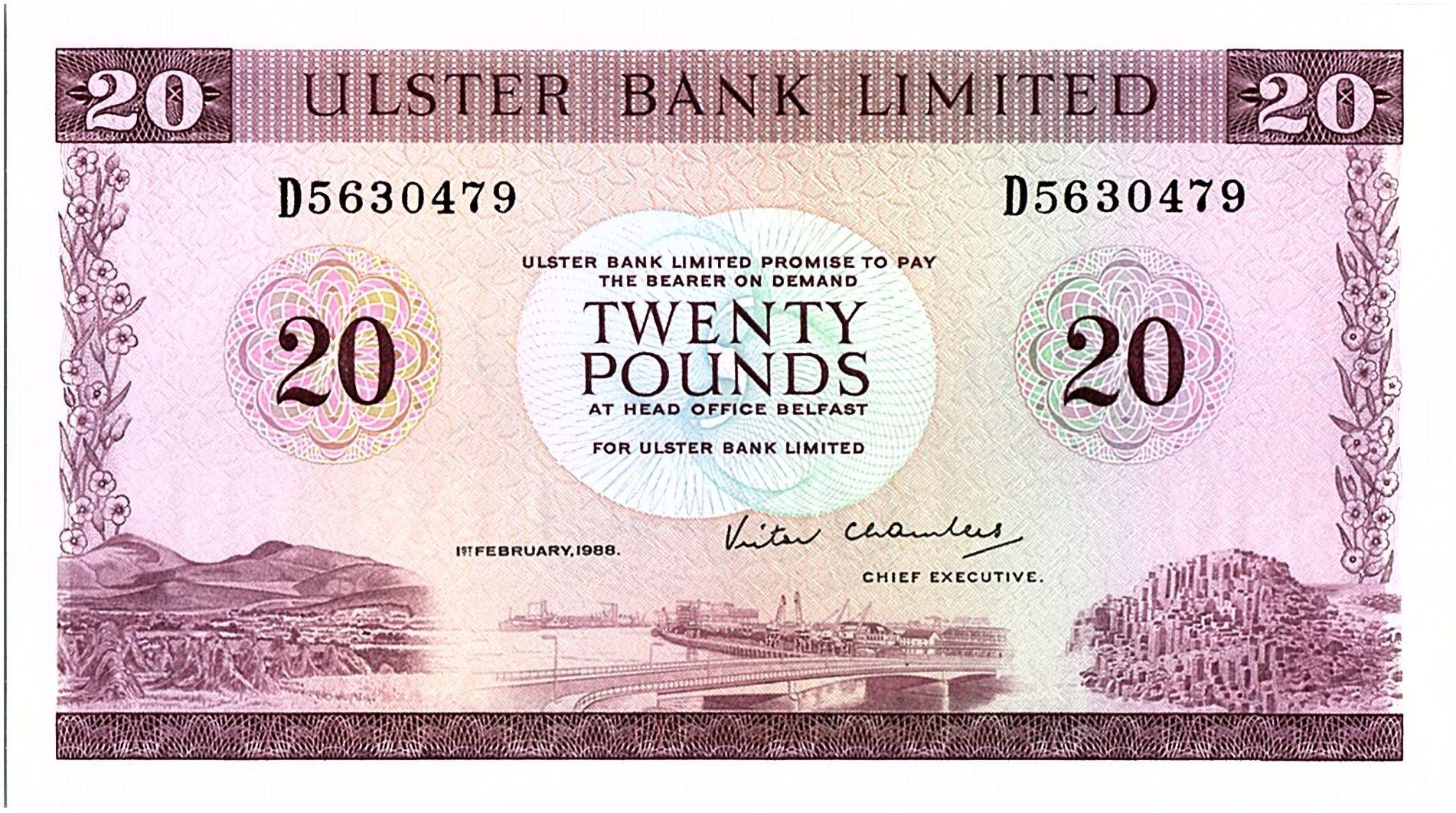 Ireland - Northen 20 Pounds Ulster Bank - 1988 - P.328 c
