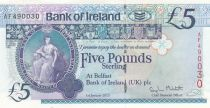 Ireland - Northen 5 Pounds - Bank of Ireland - 2013 - P.86 -UNC