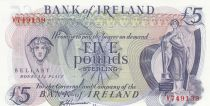 Ireland - Northen 5 Pounds - Bank of Ireland - ND (1980) - P.66 - UNC  Prefix V