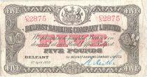 Ireland - Northen 5 Pounds Arms - 1938