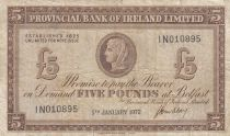 Ireland - Northen 5 Pounds Provincial Bank Limited 1972 - F- P.246