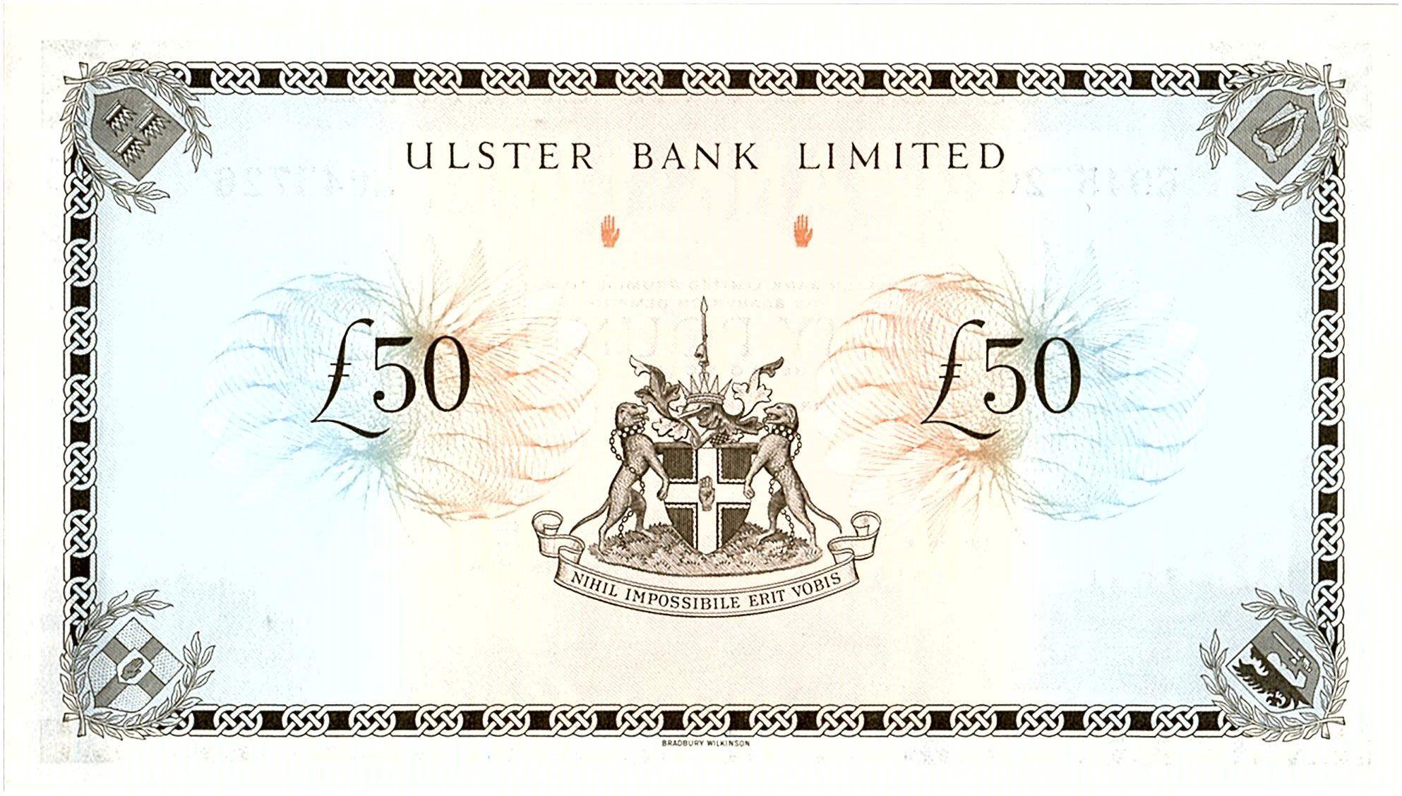 Ireland - Northen 50 Pounds Ulster Bank - 1982 - P.329
