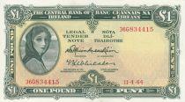 Ireland 1 Pound, Lady Lavery - 1964 - AU P.64a