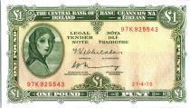 Ireland 1 Pound Lady Lavery - 1975