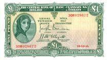 Ireland 1 Pound Lady Lavery - River Mask - 018/10/1946