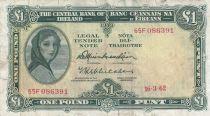 Irland 1 Pound 16-03-1962 -  Lady Lavery - Serial 65F