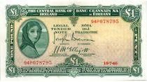Irlanda 1 Pound 1946 -  Lady Lavery