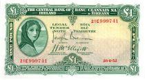 Irlanda 1 Pound 1952 -  Lady Lavery