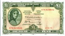 Irlanda 1 Pound Lady Lavery - 1975
