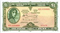 Irlanda 1 Pound Lady Lavery - 1976