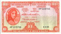 Irlanda 10 Shillings Lady Lavery - 1964
