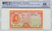 Irlanda 10 Shillings Lady Lavery - 1968 - PCGS 66 OPQ