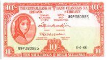 Irlanda 10 Shillings Lady Lavery - 1968