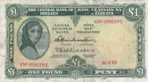 Irlande 1 Pound 16-03-1962 -  Lady Lavery - Série 65F
