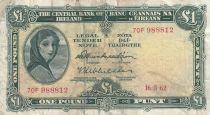 Irlande 1 Pound 16-03-1962 -  Lady Lavery - Série 70F