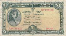 Irlande 1 Pound 18-05-1960 -  Lady Lavery - Série 42F