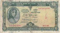 Irlande 1 Pound 18-05-1960 -  Lady Lavery - Série 52F 3ème ex.