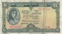 Irlande 1 Pound 18-05-1960 -  Lady Lavery - Série 52F 4ème ex.