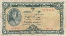 Irlande 1 Pound 18-05-1960 -  Lady Lavery - Série 53F