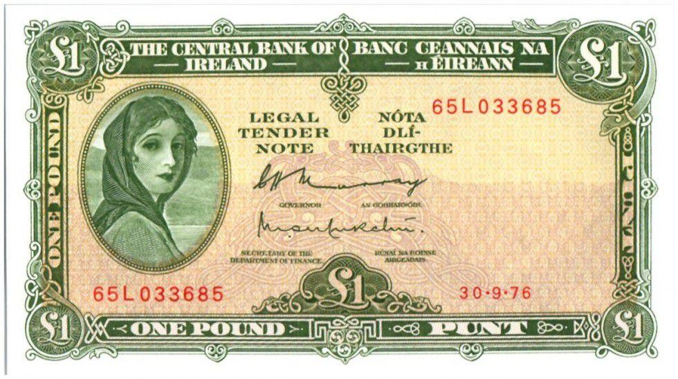 Irlande 1 Pound Lady Lavery - 1976
