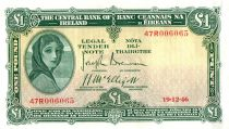 Irlande 1 Pound Lady Lavery - Masque - 18/10/1946