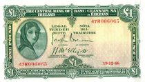 Irlande 1 Pound Lady Lavery - Masque - 18/10/1946