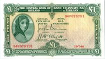 Irlande 1 Pound Lady Lavery - Masque - 19/07/1946