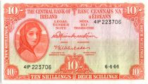 Irlande 10 Shillings Lady Lavery - 1964