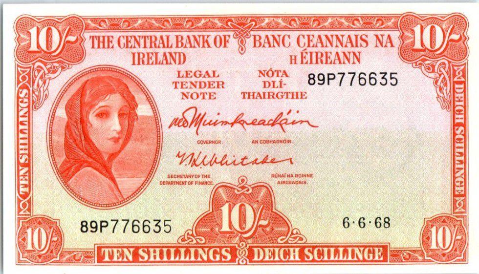 Irlande 10 Shillings Lady Lavery - 1968