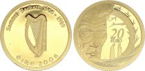 Irlande 20 Euro, Samuel Beckett 2006 - Or - Sans coffret ni certificat