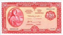 Irlande 20 Pounds Lady Lavery - 1970