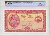 Irlande 20 Pounds Lady Lavery - 1976 - PCGS 63OPQ