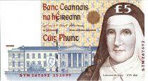 Irlande 5 Pounds Soeur C. McAuley - Ecoliers  - 1999