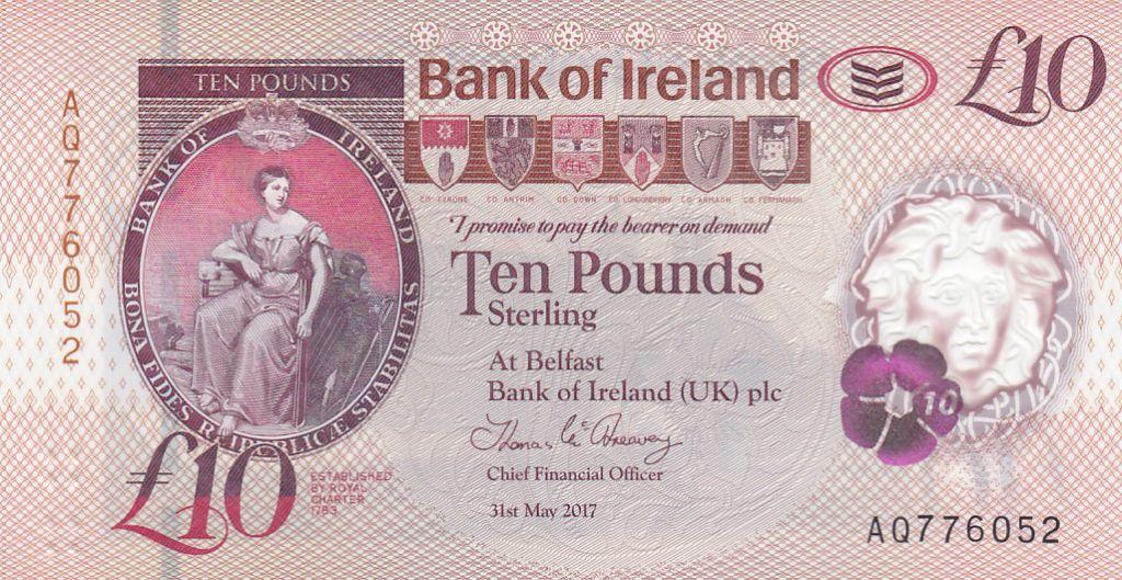 Irlande du Nord 10 Pounds Distillerie Bushmills - Polymer 2017 (2019) - Neuf