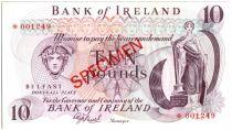 Irlande du Nord 10 Pounds Mercure, femme et harpe - Avion, bateau