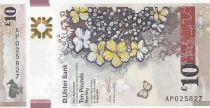 Irlande du Nord 10 Pounds Ulster Bank - Fleurs - Polymer 2017 (2019) - Neuf