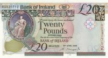 Irlande du Nord 20 Pounds - Bank of Ireland - 2008 - P.85 - Neuf
