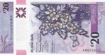 Irlande du Nord 20 Pounds Ulster Bank - Fleurs - Polymer 2019 - Neuf