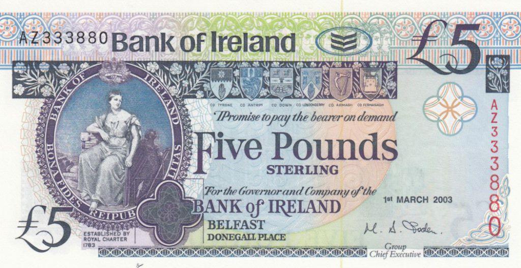 Irlande du Nord 5 Pounds - Bank of Ireland - 2003 - P.79 - Neuf
