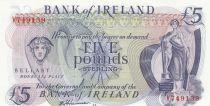 Irlande du Nord 5 Pounds - Bank of Ireland - ND (1980) - P.66 - Neuf Préfix V