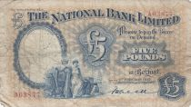 Irlande du Nord 5 Pounds National Bank Limitd 1937 - p.TB - P156 a