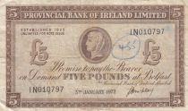 Irlande du Nord 5 Pounds Provincial Bank Limited 1972 - TTB - P.246